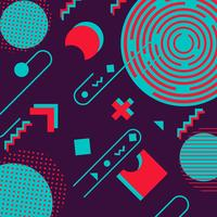 Retro modischer geometrischer Formmemphis-Hippie-Hintergrund
