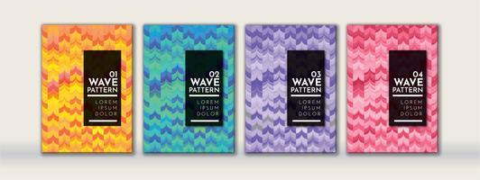 Abstraktes Wellen-Hintergrund-Muster
