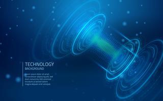 Fundo de tecnologia azul Cyber vetor