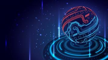 Cyber Technology Globe Background