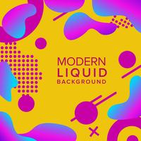 Retro color background design with trendy shapes composition