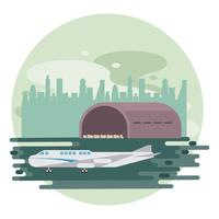 transportation commercial passengers airplane  vector