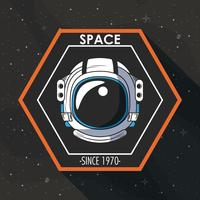 Space explorer patch emblem design