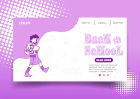 Web design e pagina di destinazione di Back to School