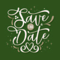 Flowing Calligraphy Save the Date