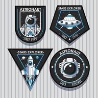 Set di Space explorer patch emblemi design