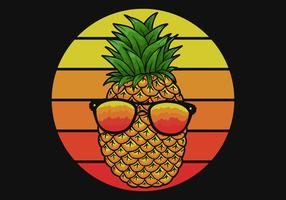 pineapple with eyeglasses