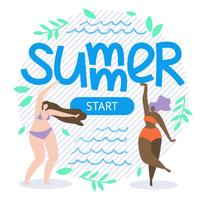 Scritta Summer Start Flat