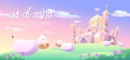 Eid Al Adha ciel crépusculaire