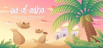 Eid Al Adha In The Middle East vector