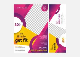 Modern Gym Flyer Template with Abstract Shapes Design