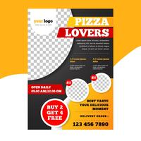 Modern Pizza Restaurant Flyer Template vector