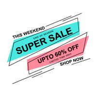 Colorful Super Sale template