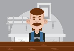 Man At A Bar Vector Illustration