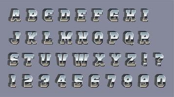 Vector Chrome 3d lettertype
