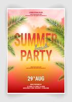 Diseño de volante de fiesta de playa de verano