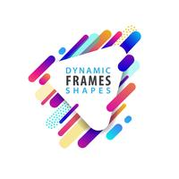 Abstract triangle frame vector
