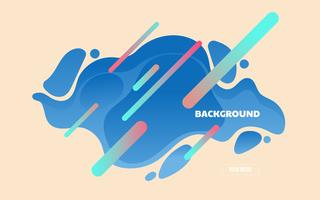 Landing page modern abstract fluid