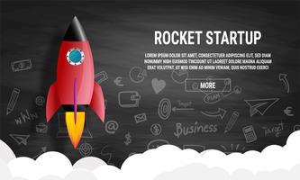 Concepto de idea de negocio de inicio
