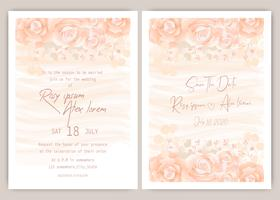 Oranje bruiloft uitnodiging