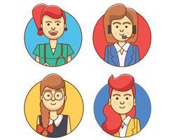 Frauen-Charakter-Ikonen