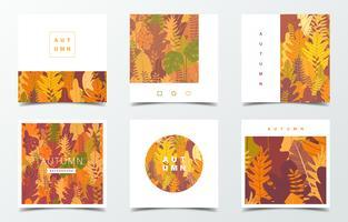 Conjunto de plantilla de diseño otoño
