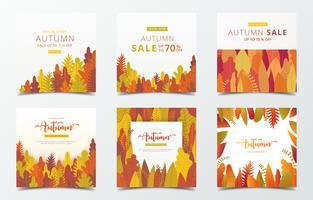Conjunto de plantilla de banner de otoño