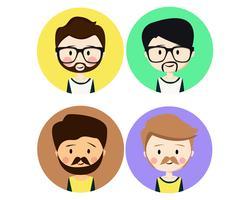 Iconos de personajes de hombres