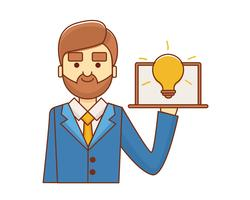 Idea Business man vector
