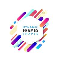 Abstract Hexagonal frame template  vector