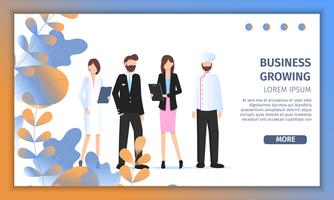 Different Business Character Job Fair Banner