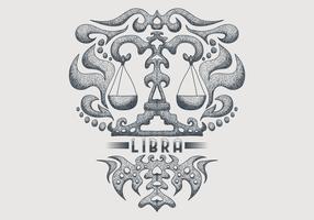 vintage libra zodiac sign