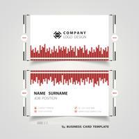 Röd linje tech-visitkort