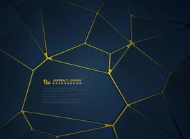 Luxury gold with gradient blue geometric design