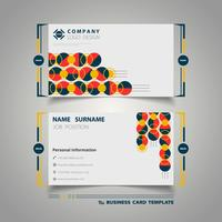 Circle colorful geometry business card
