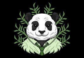 panda wearing work clothes