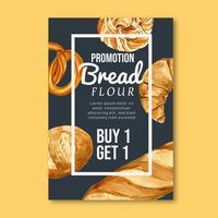 Plantilla de póster de panadería vector