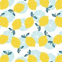 Patrón sin costuras de limón