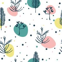 Abstract Scandinavian Floral seamless Pattern