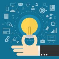 Ícones de ideia de negócio criativo
