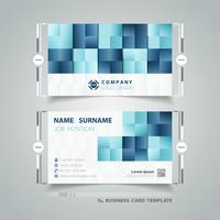 Square blue pattern business card