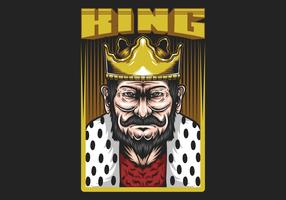 "King in Frame avec ""King"" Text"