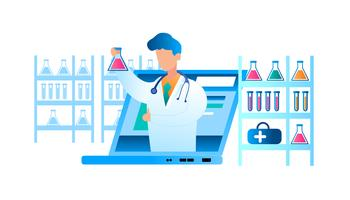 Doença on-line de exame médico