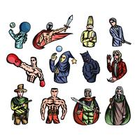 Set van verschillende sticker