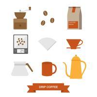 Conjunto de iconos de café por goteo
