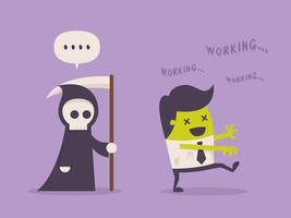 Uomo d'affari stacanovista trasformato in zombi