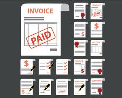 Invoice Icons Documents