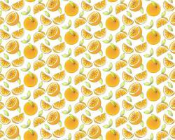 Orange Fruit Pattern Background