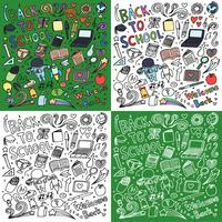 Ritorno a scuola doodle art bundle