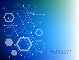 Blauwe abstracte technologie digitale achtergrond.